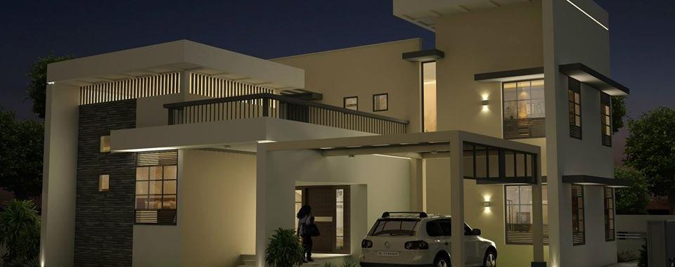 Night view of VIP's House