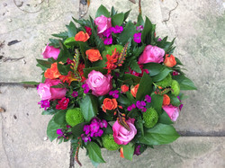 Vibrant posy arrangment.