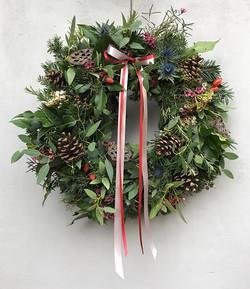 Festive wreaths.