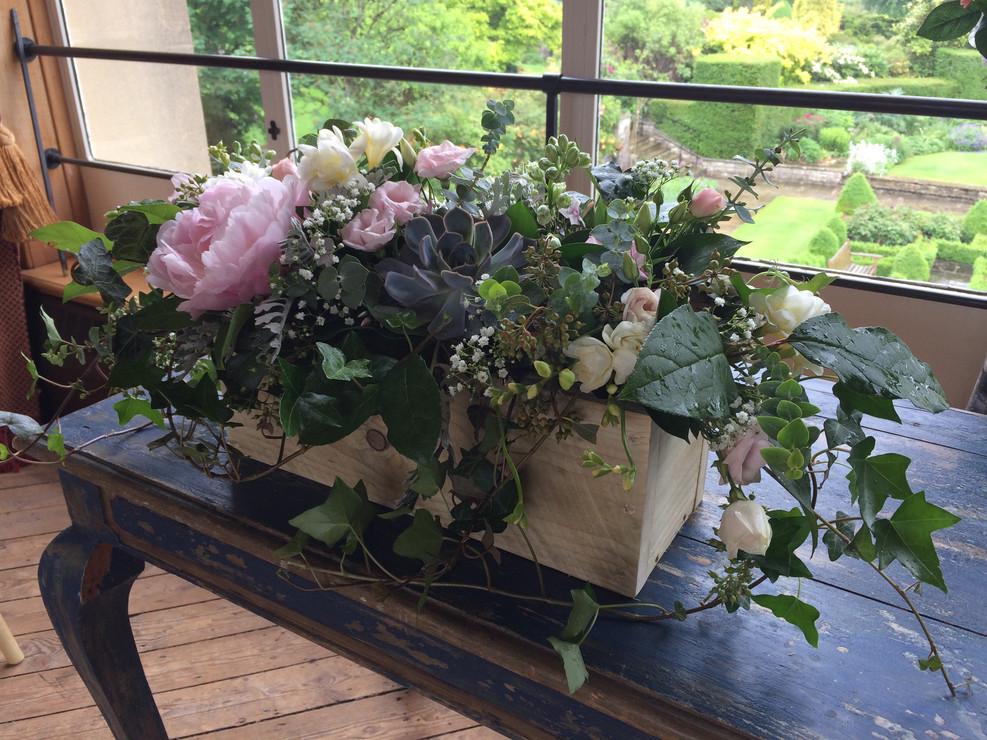 Floral decor at Kilver Court.