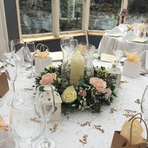 Table decor at Charlton House.