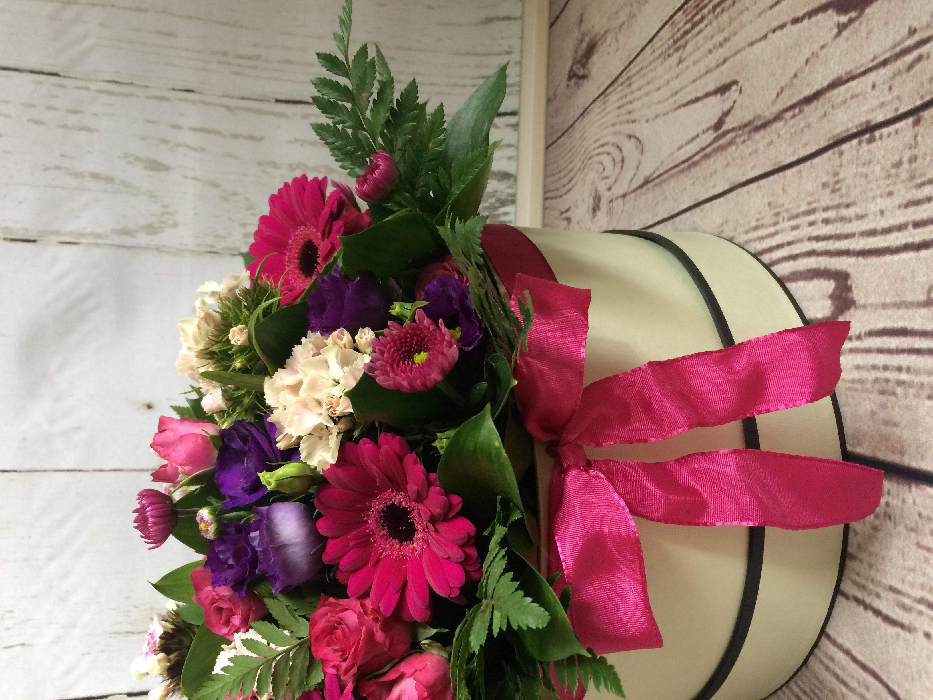 Floral hat box.