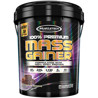MuscleTech - 100% Premium Mass Gainer [18.5 LBS / 30 Servings] Triple Chocolate Brownie
