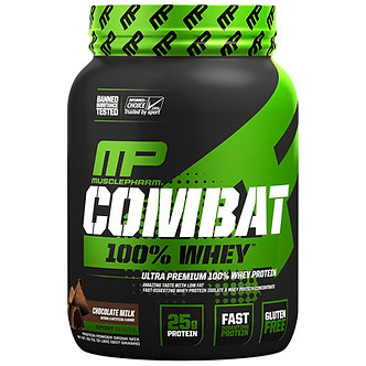 MusclePharm - Combat 100% Whey [2 LBS / 27 Servings] Chocolate Milk