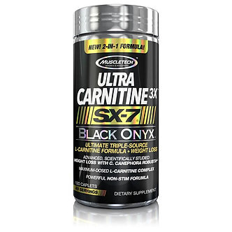 MuscleTech - Ultra Carnitine 3X™ SX-7® Black Onyx™ [120 Caps] Unflavored