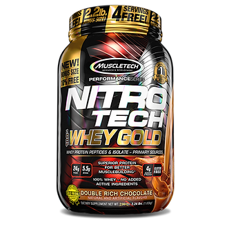 MuscleTech - Nitro Tech 100% Whey Gold [2 LBS / 35 Servings] Double Rich Chocolate