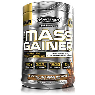 MuscleTech - Premium Gold 100% Mass Gainer [5.15 LBS / 7 Servings] Chocolate Fudge Brownie