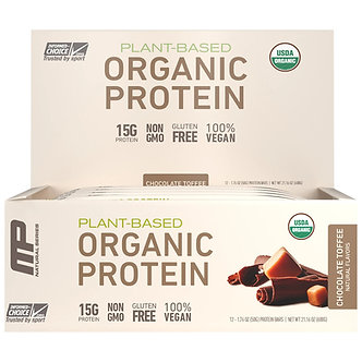 MusclePharm - Organic Protein Bars [1 Box / 12 Bars] Chocolate Toffee