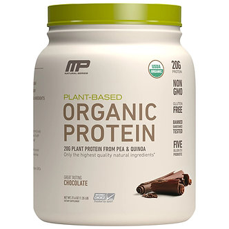 MusclePharm -  Organic Plant Based Protein Powder [1.35 LBS / 15 Servings] Chocolate