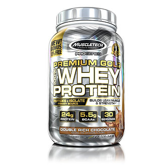 MuscleTech - Premium Gold 100% Whey Protein [2.2 LBS / 30 Servings] Double Rich Chocolate