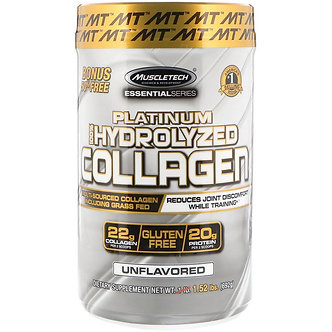 MuscleTech - Platinum 100% Hydrolyzed Collagen [62 Servings] Unflavored