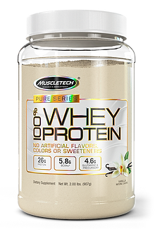 MuscleTech - Pure Series 100% Whey Protein [2 LBS / 23 Servings] Vanilla