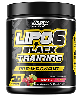 Nutrex Research - LIPO-6 BLACK TRAINING [30 Servings] Tropical Punch