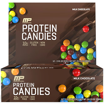 MusclePharm - Protein Candies [1 Box / 12 Packs] Milk Chocolate