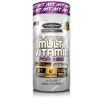 MuscleTech - Platinum Multivitamin for Her [90 Tablets] Unflavored