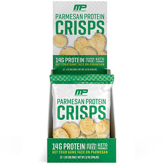MusclePharm - Protein Cheese Crisps [1 Box / 12 Pouches] Parmesan