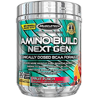 MuscleTech - AMINO BUILD NEXT GEN [30 Servings] Fruit Punch