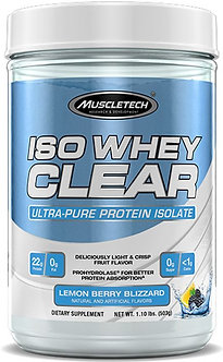 MuscleTech - Iso Whey Clear [1.1 LBS / 19 Servings] Lemon Berry Blizzard
