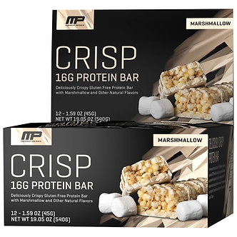 MusclePharm - Crisp Protein Bars [1 Box / 12 Bars] Marshmellow