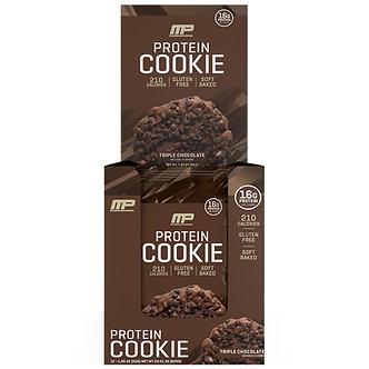 MusclePharm - Protein Cookies [1 Box / 12 Packs] Triple Chocolate