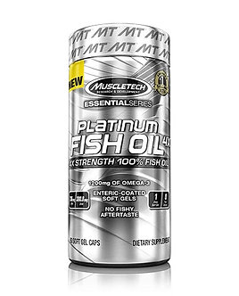 MuscleTech - Platinum Fish Oil 4x [60 Softgels] Unflavored