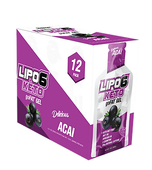 Nutrex Research - Lipo-6 Keto goFat Gel [1 Box / 12 Packs] ACAI