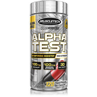 MuscleTech - MuscleTech® Pro Series AlphaTest® [120 Caps] Unflavored