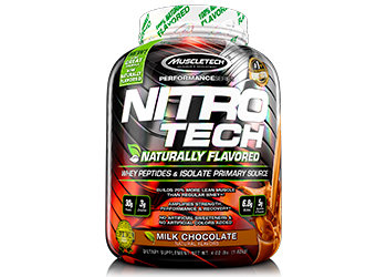 MuscleTech - Nitro-Tech® Naturally Flavored [4 LBS / 41 Servings] Milk Chocolate
