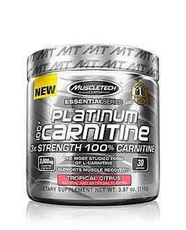 MuscleTech - Platinum 100% Carnitine Powder [30 Servings] Tropical Citrus