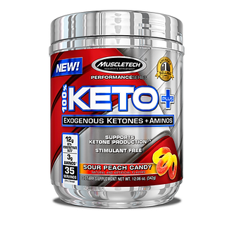 MuscleTech - 100% Keto Plus [35 Servings] Sour Peach Candy