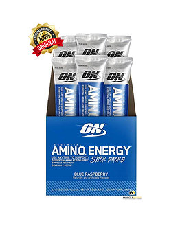 Optimum Nutrition Amino Energy [6 Box / 6 Stick Packs] Blue Raspberry
