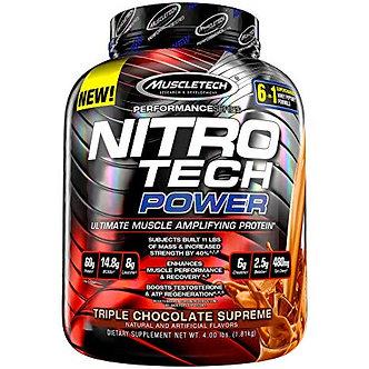 MuscleTech - Nitro Tech Power [4 LBS /38 Servings] Triple Chocolate Supreme