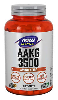 NOW Sport - AAKG 3500 [60 Servings / 180 Tablets] Unflavored