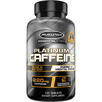 MuscleTech - Platinum 100% Caffeine [125 Tablets] Unflavored