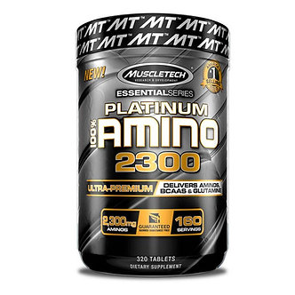 MuscleTech - Platinum 100% Amino 2300 [320 Tablets / 160 Servings] Unflavored