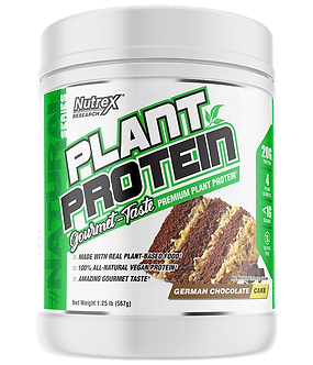 Nutrex Research - PLANT PROTEIN [1.25 LBS / 18 Servings] German Chocolate Cake