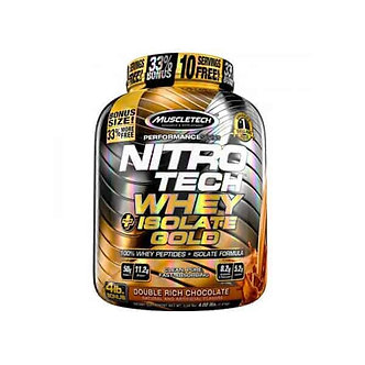 MuscleTech - NITRO-TECH® WHEY + ISOLATE GOLD [4 LBS / 52 Servings] Double Rich Chocolate