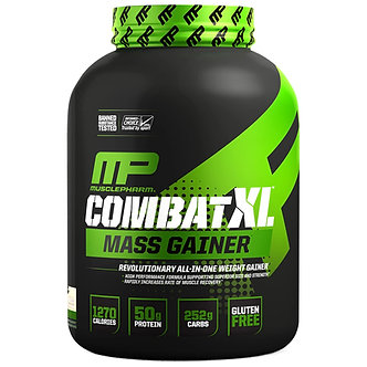 MusclePharm - Combat XL Mass Gainer [6 LBS / 80 Servings] Vanilla