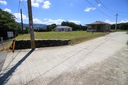 北側共有道路から見た7号地