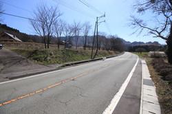 国道265号からの分譲地入口