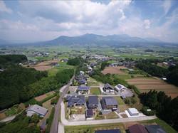 分譲地上空からの風景