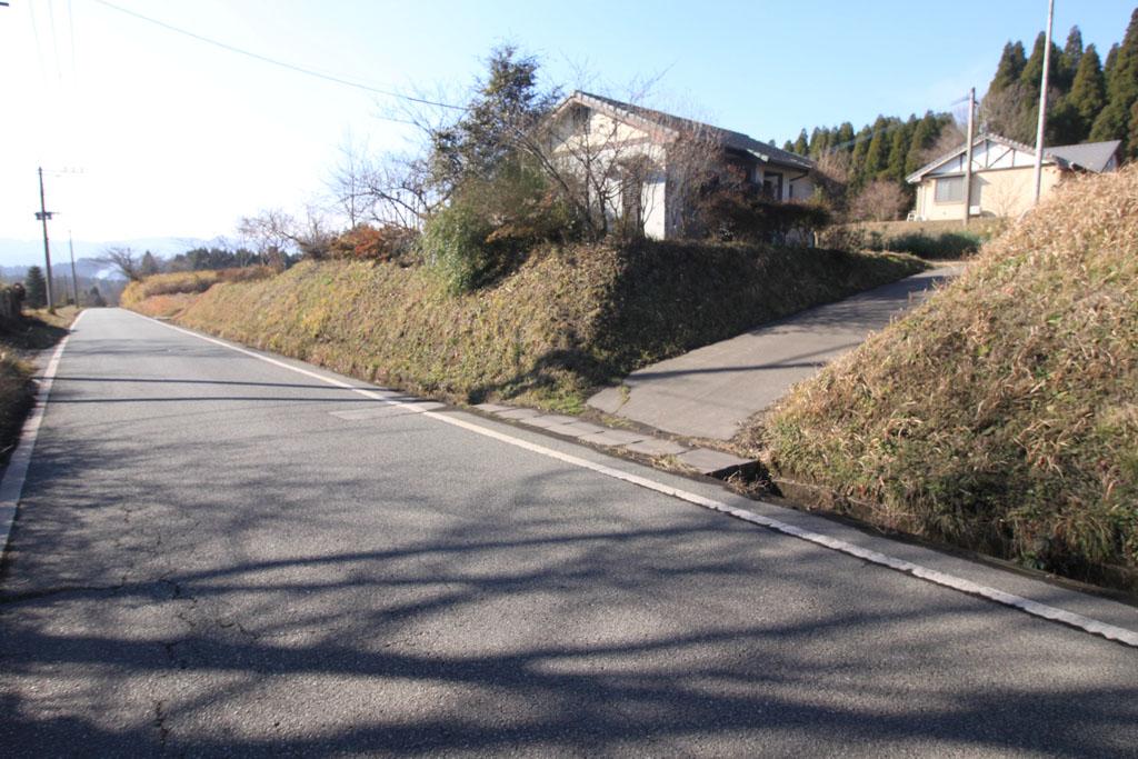前面道路と物件入口