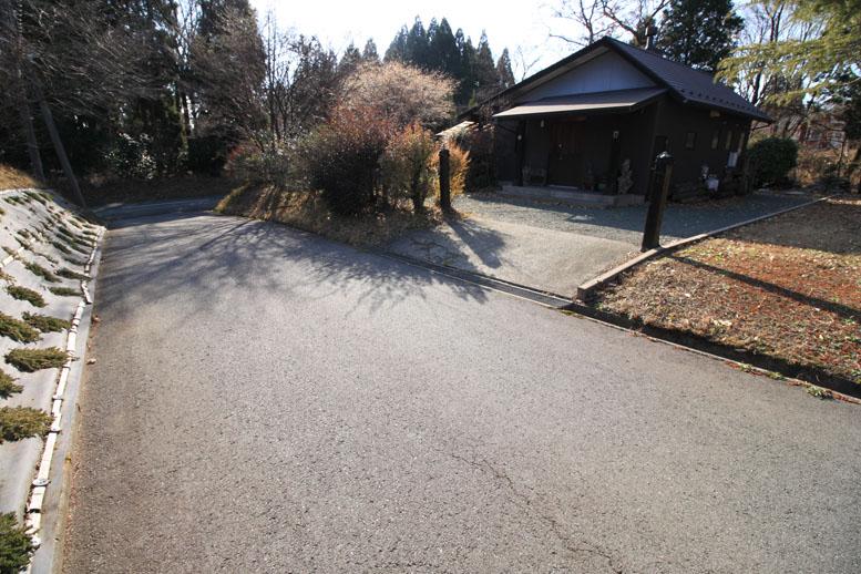 分譲地共有道路と物件入口