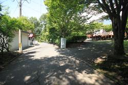 前面道路と入口
