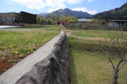 北西側境界の石垣