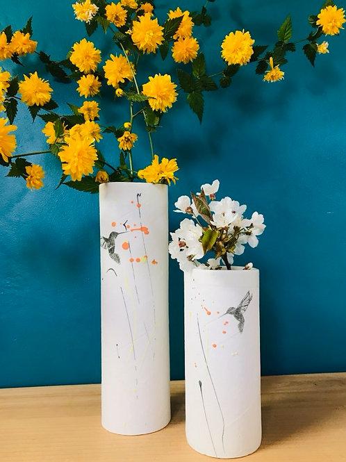 Grand vase en porcelaine bourdon