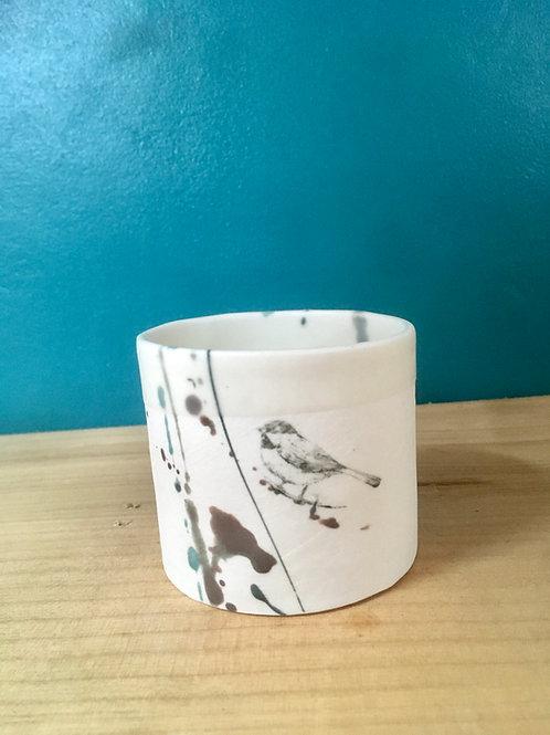 tasse à café cylindre mésange