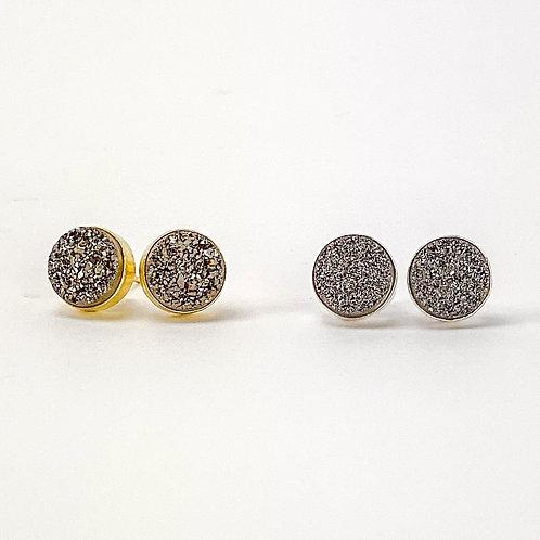 Druzy Earrings (24K gold or Silver)
