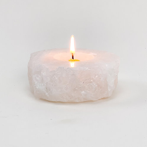 Quartz Tealight Candle Holder