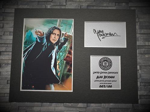 Alan Rickman Signed Autograph Display - Severus Snape - Harry Potter